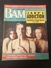 Vtg BAM Rock Magazine Newspaper 1990 Jane's Addiction
