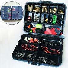 127pc Bait Value Pack Kit Fishing Tackle Carry Case Lure Fishing Accessories Box