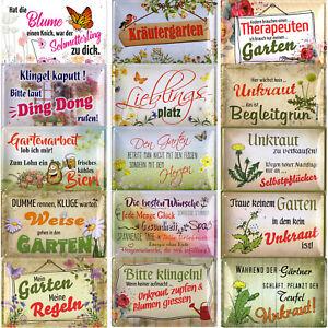 Blechschild Schilder 20x30cm Garten Hobby Gärtner Pflanzen Blumen Freizeit Deko
