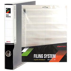 Archival RING BINDER File Box Film Storage with 25 Page x 35mm 135 Sheet Sleeves