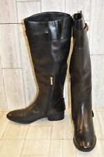 Sam Edelman Portman Knee High Leather Riding Boots, Women's Size 9M, Black