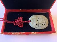 Early 20th Century 玉項鍊 Jade Necklace Boxed From Singapore