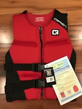 NEW O'Brien Mens SMALL Life Vest,Traditional Neoprene hinged vest, flex back RED