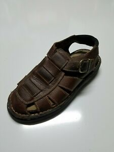 Earth Spirit Men's Leather Fisherman Sandals Outdoor Shoes Casual Comfort Size 8