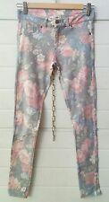 pantaloni donna leggings elasticizzato azzurro rose rosa Pull & Bear taglia S