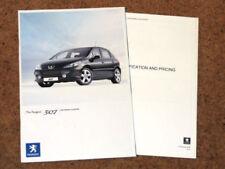 Peugeot 307 2007 Car Sales Brochures