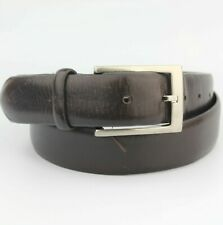 Jos. A. Bank Dark Brown Soft Thick Leather Belt 34""