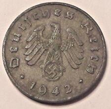 10 Reich III Pfening 1942 A Allemagne Deutschland