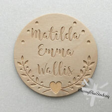 **BABIES** Carved Wooden Craft Shape - Personalised Name Plaque.