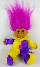 Russ Troll Doll Purple Hair W Purple & Yellow Clown Outfit 6""
