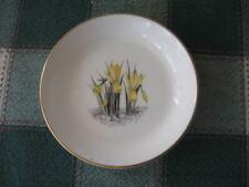 Royal Worcester Fine Bone China Coaster Alpine Flowers Narcissus GOLD Rim