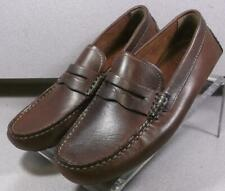 250252 MS50 Men's Shoes Size 9 M Brown Leather Slip On Johnston & Murphy