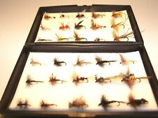30 ASSORTED SINGLE DRY TROUT FISHING FLIES IN A FREE FLY ECO BOX IDEAL XMAS GIFT