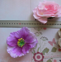 PINK or LILAC Ladies Clip & Pin Dress Flowers 10-12cm Fabric 2 Type Choice
