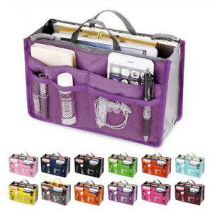 Women Travel Insert Organizer Handbag Purse Large Liner Lady Makeup Cosmetic Bag