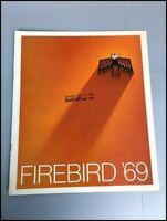 1969 Pontiac Firebird and Sprint 400 12-page Dealer Car Sales Brochure Catalog