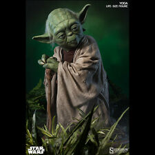 """SIDESHOW star Wars Yoda Life-Size 1:1 Scale Figure 32"""" Statue NEW SEALED"""