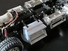 Custom Pair Aluminum block Side Step for Tamiya 1/14 Semi King Hauler Tractor