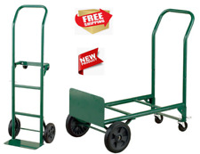 2-in-1 Convertible Hand Truck And Dolly, Steel, 400 Lb. Capacity Free Fast Ship