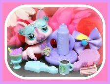 ❤️Authentic Littlest Pet Shop LPS 1645 Pink Purple Welsh Corgi Puppy Dog❤️