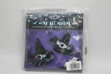 GINGER RAY Black 12 3D Witch Hat Napkins Iridescent Buckles Party Tableware NWOT