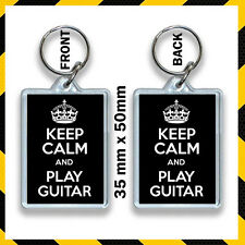 KEEP CALM AND PLAY GUITAR KEYRING 35X50MM  #2