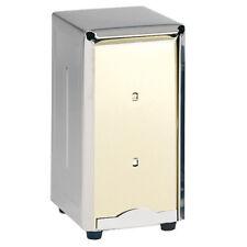 """Double-Sided Napkin Dispenser Stainless Steel, Holds 300 Full-Size Napkins, 7""""H"""