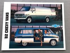 1982 chevrolet chevy van and sportvan canada car sales brochure catalog g10  g20