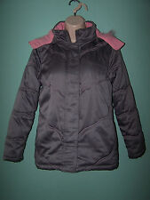ROTHSCHILD Girl Grey Hooded Winter Jacket Size 16 XL