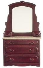 Dolls House Victorian Mahogany Dressing Table Miniature Bedroom Furniture