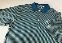 Peter Miller Mens Striped Pebble Beach Golf Polo Size XL