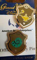 Disney Pins Hidden Mickey 2018 Princess Shield Jasmine Lamp & Ariel Shell Traded