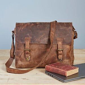 Fair Trade Handmade Buffalo Leather Large Laptop Bag - 2nd Quality