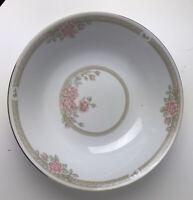 "Crown Ming China CHRISTINA #1392 Round Gold Trim Vegetable Serving Bowl, 9"""