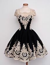 Hot Black Applique Short Homecoming Dress Prom Party Pageant Formal Dresses Ball