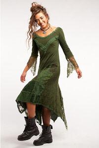 LACE TRAIL GYPSIE DRESS, Pixie dress, boho dress, fairy dress, evening Goa dress
