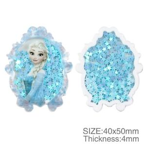 Acrylic Resin Bow Center WHOLESALE Flatback Shaker confetti ELSA FROZEN 1095673