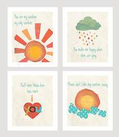 Wall Art Prints, Motivational Nursery Art Decor, You Are My Sunshine Print