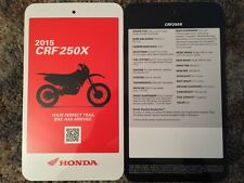 2015 CRF 250X Specification Card