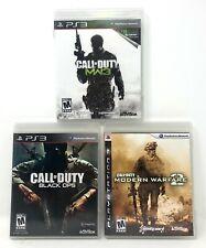 Playstation 3 Call Of Duty Lot Modern Warfare 2 3 Black Ops MW2 MW3 PS3 COD CIB