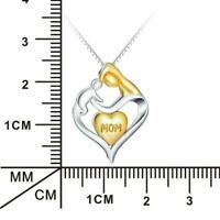 Charm Jewelry Heart Necklace Chain Pendant Clavicle Chain For Mom Z4A5