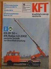 KFT KRAFTFAHRZEUGTECHNIK 10/1978 3* IFA W 50 Feuerwehr Tschaika GAS 14 Tatra
