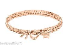 FOSSIL ROSE GOLD TONE BEADS+CHARMS+MULTI STRETCH BRACELET+SATIN RIBBON JA6007791