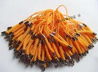 8pz laccetti cellulare 7cm colore argento scuro,arancione