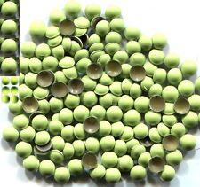Pearl Domes Nailheads 4mm Hot fix KIWI  144 Pc  1 gross