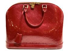 LOUIS VUITTON Alma GM Monogram Vernis handbag leather 100% Authentic