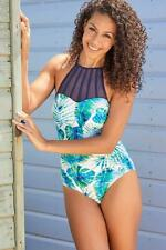 New Womens Ladies Palm Beach High Neck  Swimsuit RRP £45