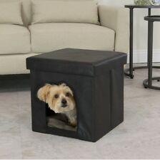 Pet Furniture For Dogs Cats Small Bed Ottoman Hidden Enclosed House Travel Cave