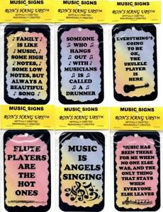 Music Inspirational Magnet Signs Plaques Kitchen Décor Birthday Christmas Gifts