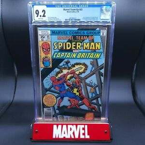 Marvel Team-Up #65 CGC 9.2 1st App Captain Britain & Arcade White Pages X-Men!